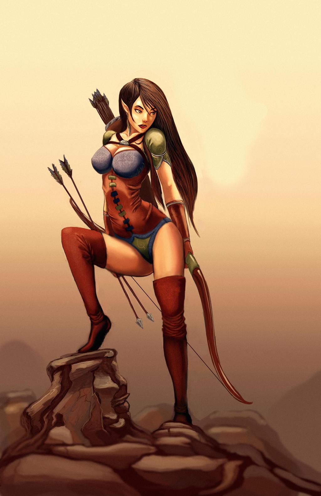 Elf Ranger by BlackHawk45LC