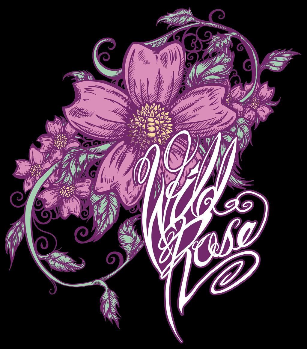 Alberta Wild Rose Design by BlackHawk45LC