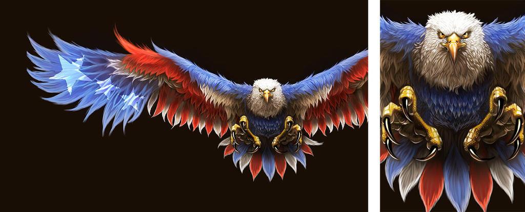 Patriotic Eagle Painting. by BlackHawk45LC on DeviantArt