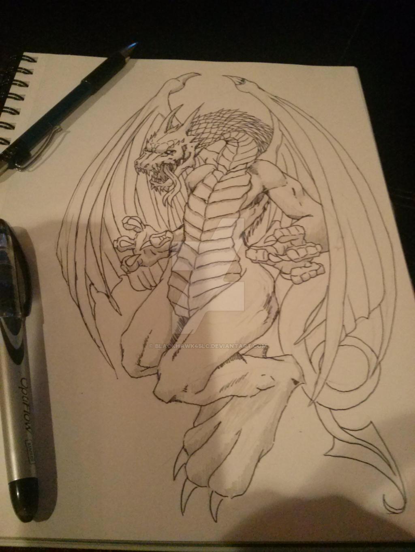 dragon study/doodle by BlackHawk45LC