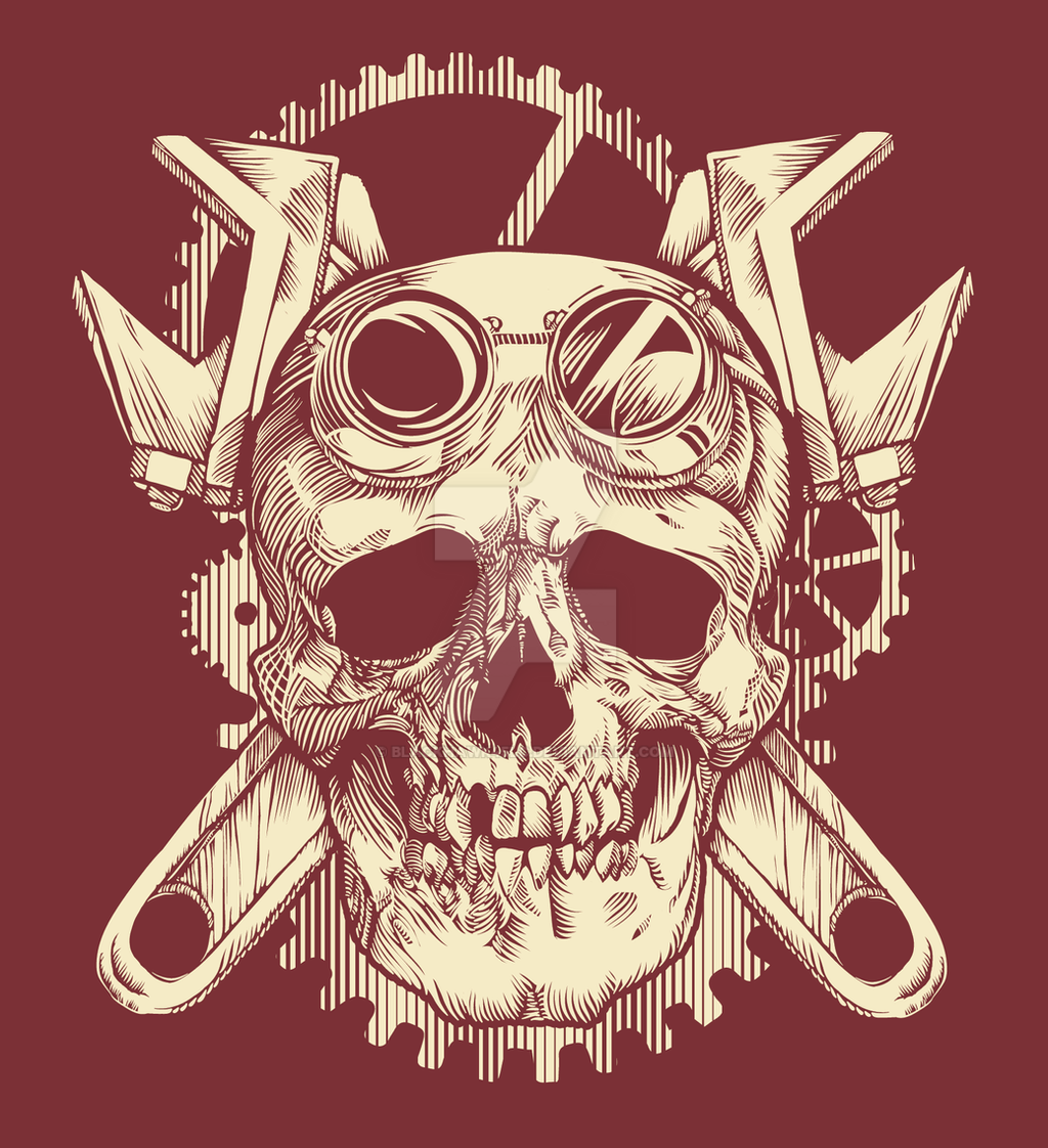 Victorian Mechanic Skull by BlackHawk45LC