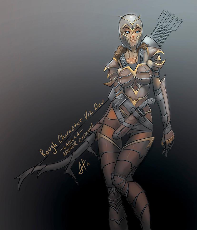 Archer Captain Viz Dev rough sketch OC by BlackHawk45LC