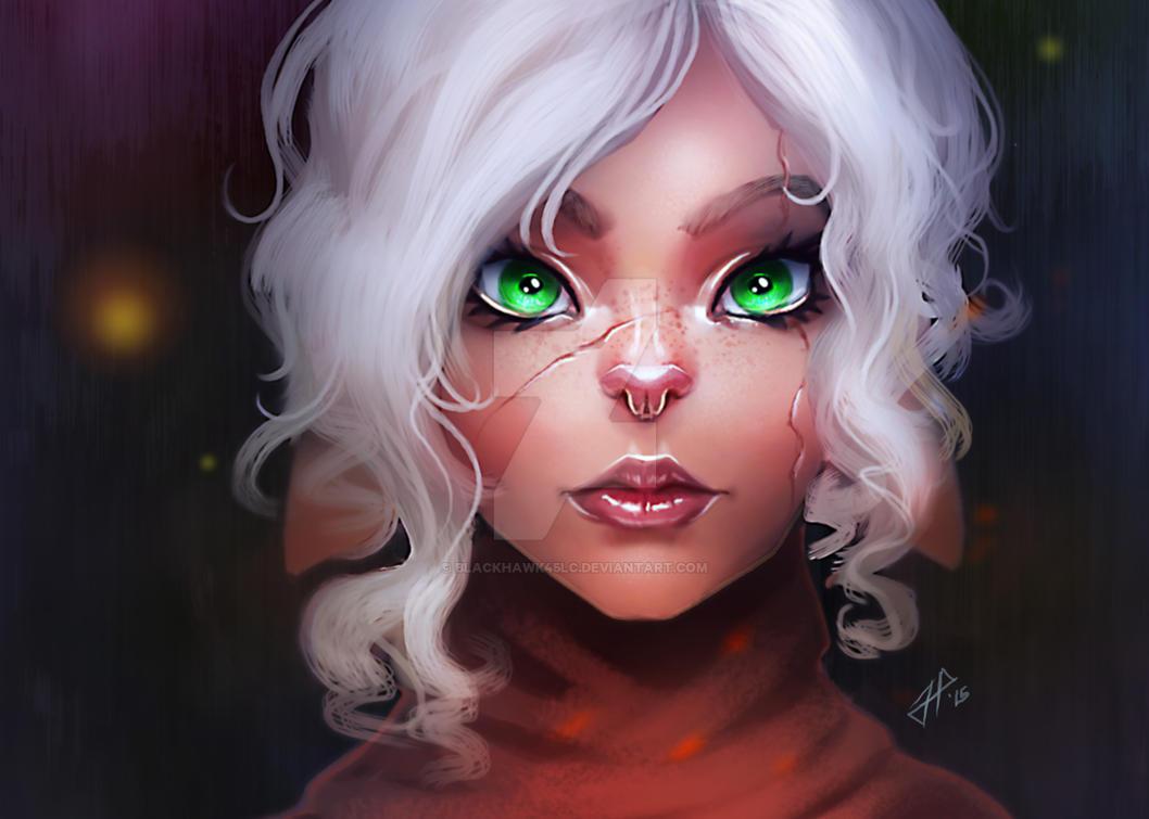 Filaani Portrait-OC by BlackHawk45LC
