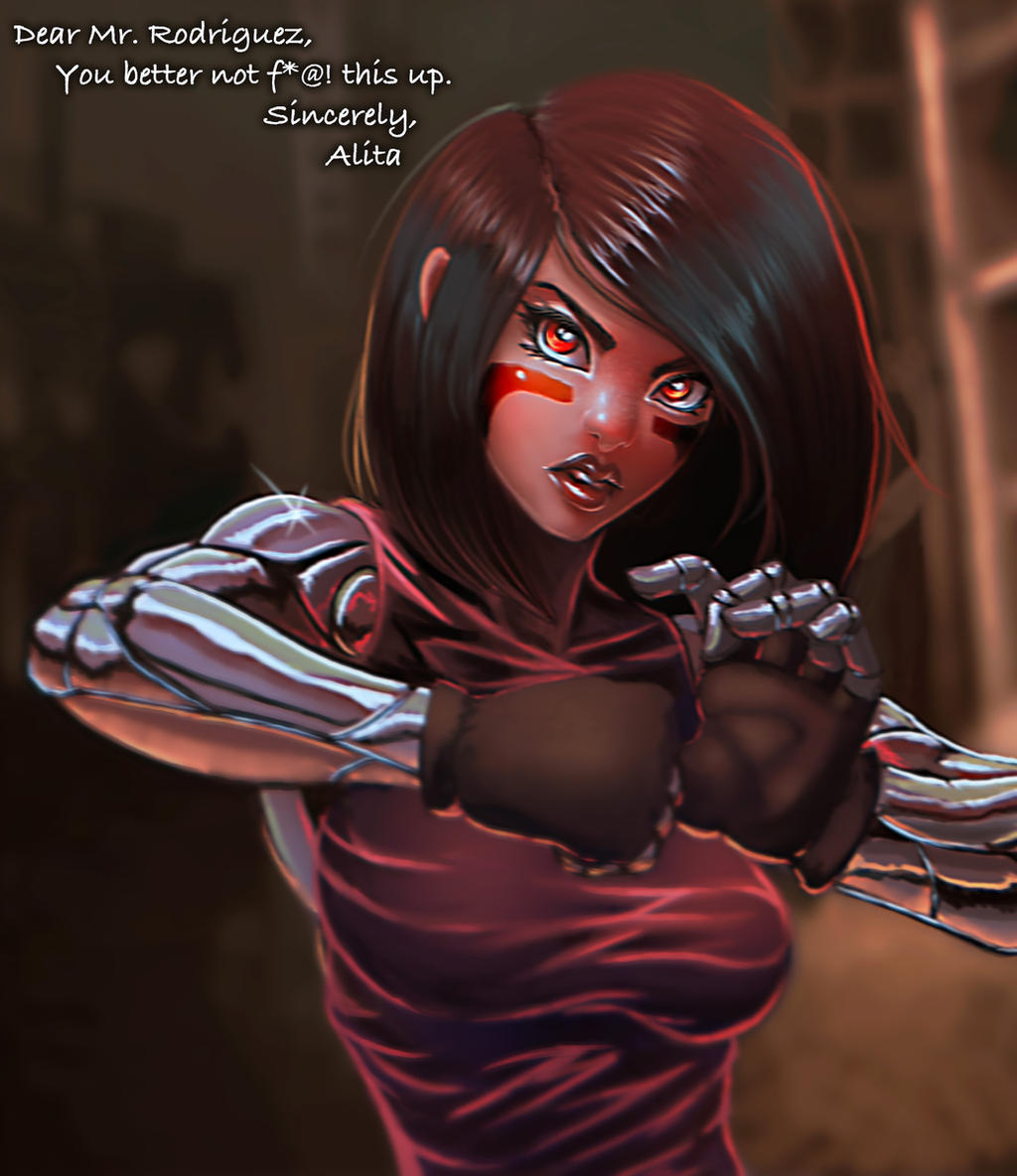 Battle Angel Alita fan art by BlackHawk45LC