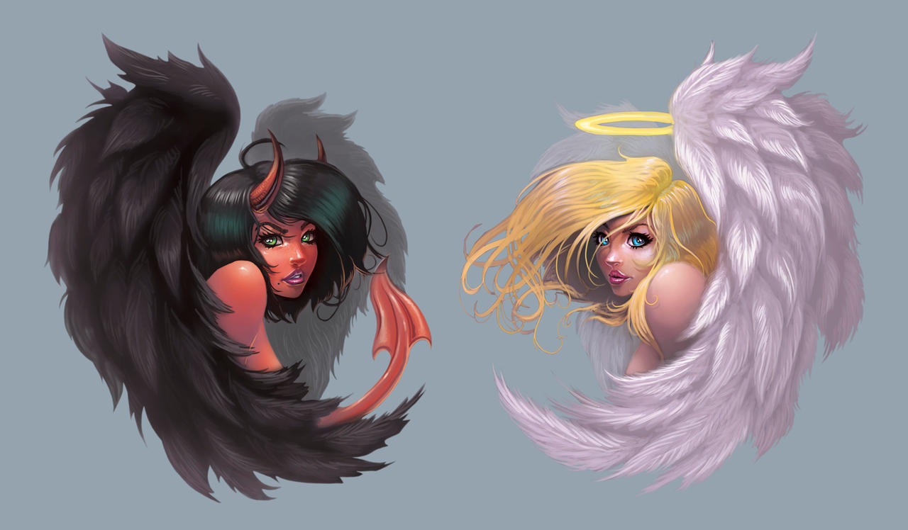 Devil and Angel Decal Concepts by BlackHawk45LC