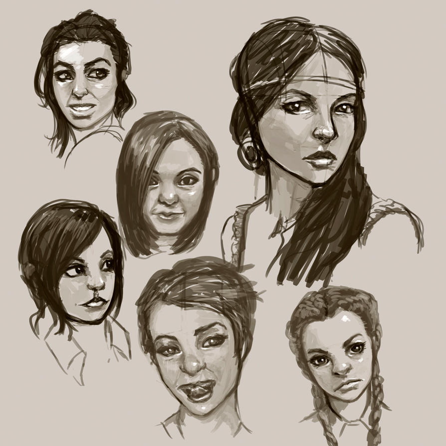 female face study by BlackHawk45LC