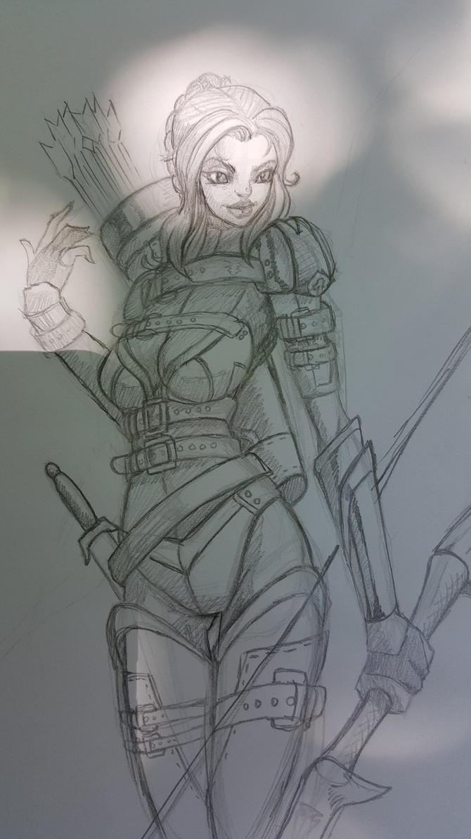 Lacilla (OC) sketch by BlackHawk45LC
