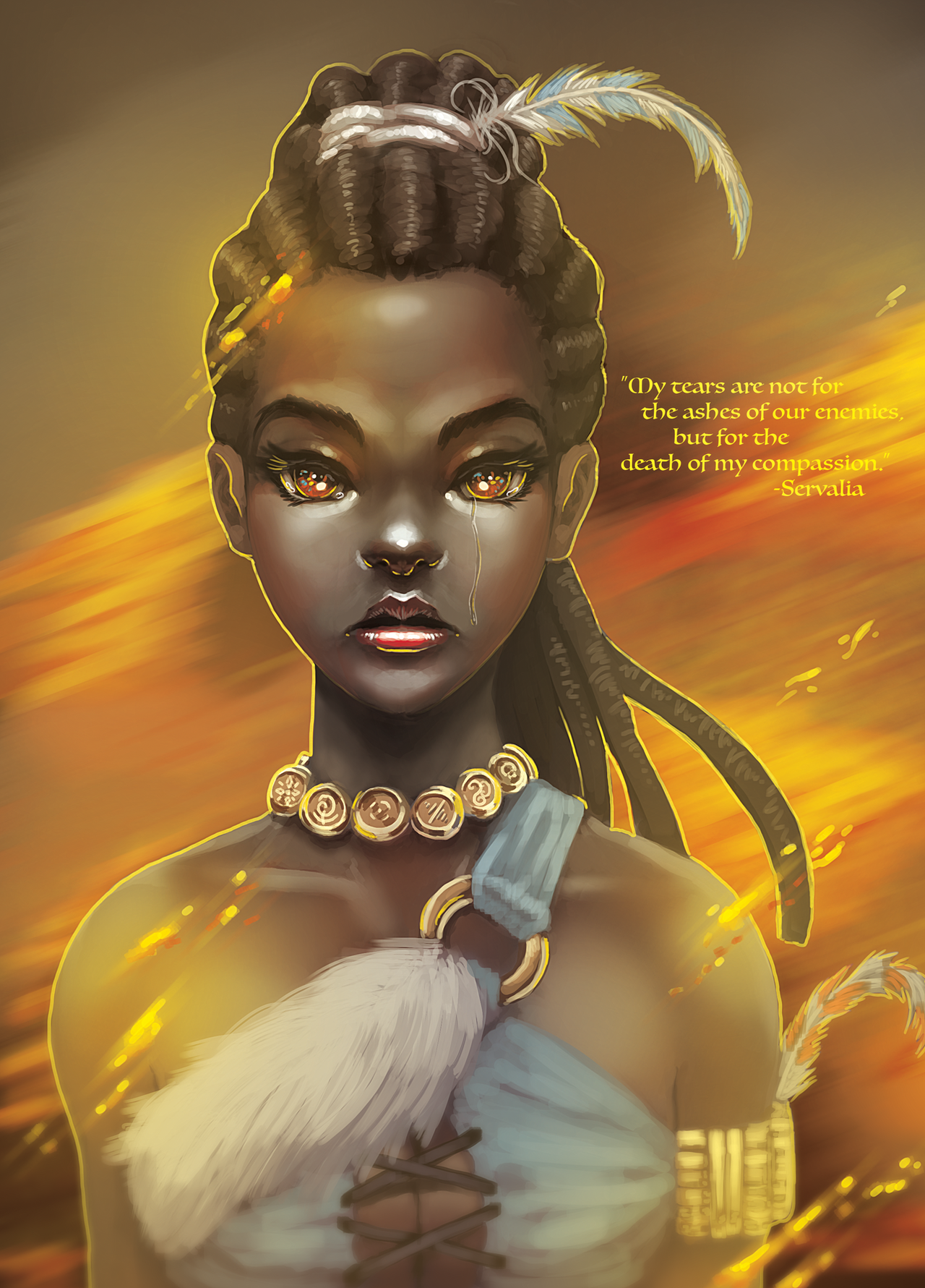 Servalia portrait by BlackHawk45LC