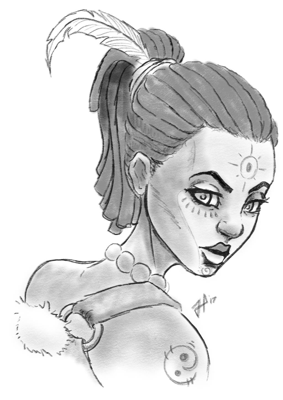 Servalia Sketch OC by BlackHawk45LC