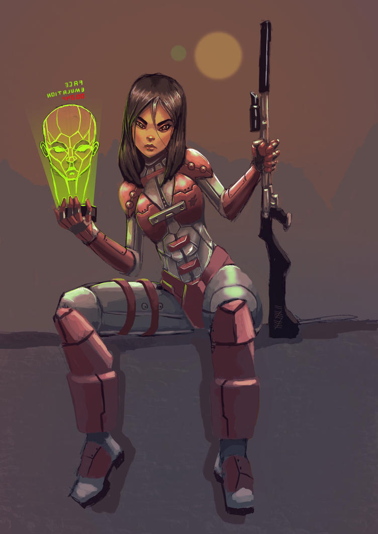 Arya galactic assassin by BlackHawk45LC