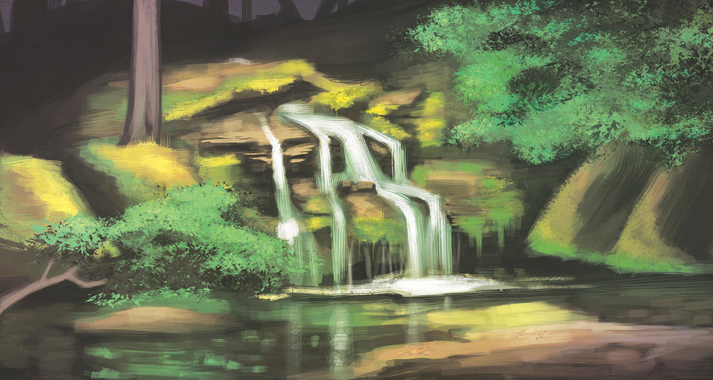 forest fall speed paint practice. by BlackHawk45LC