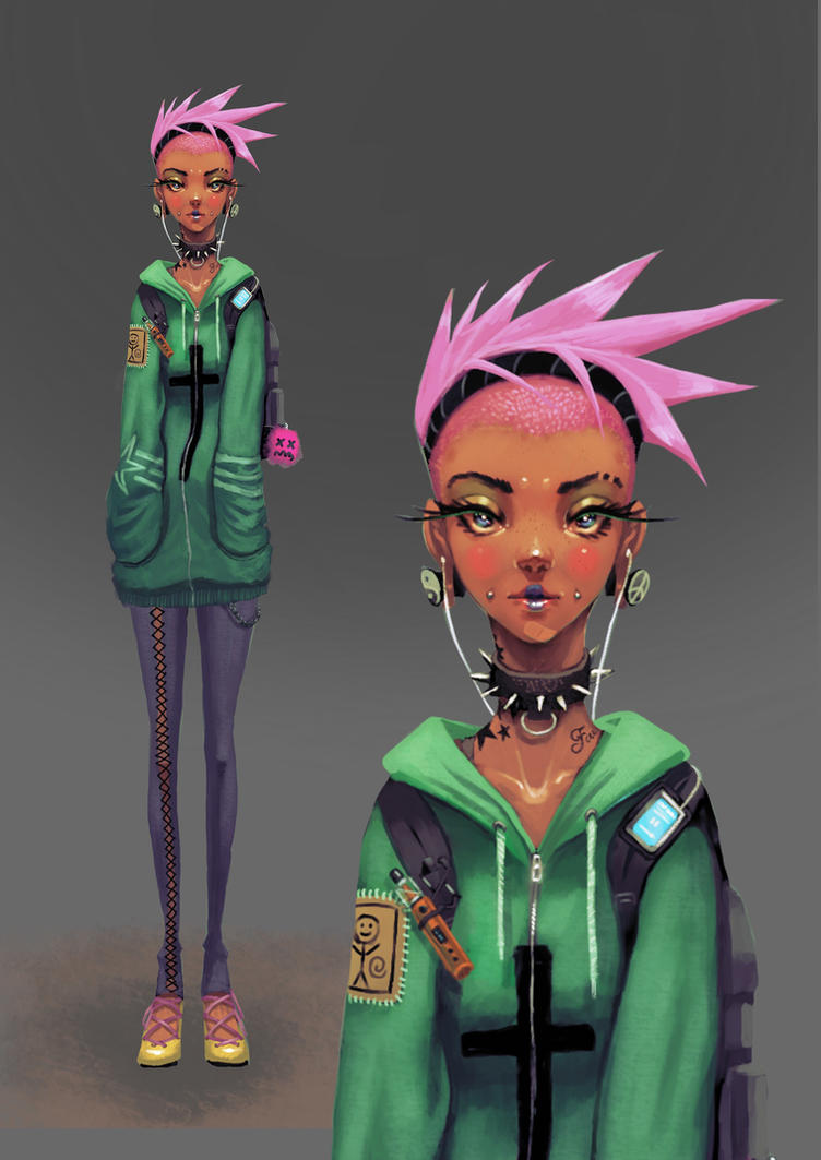Character design: Punk Girl by BlackHawk45LC