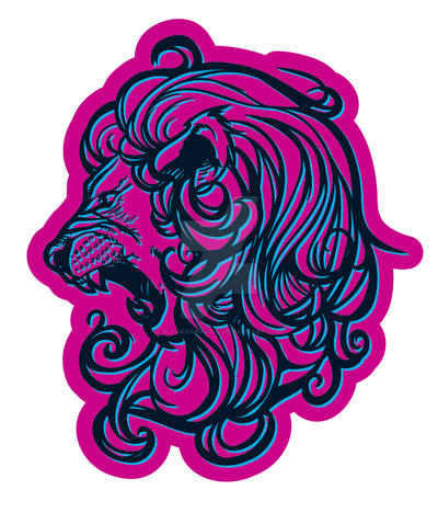 Lion Vector Decal Concept by BlackHawk45LC