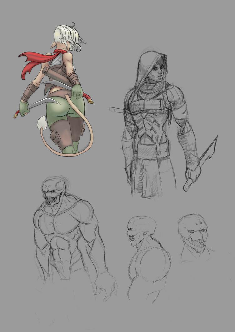 Random sketching by BlackHawk45LC
