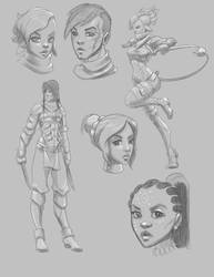 EC character doodles