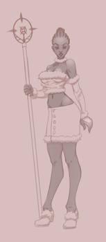 Rough sketch of my OC Servalia