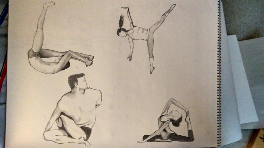 Gesture Drawings by JinxedEye