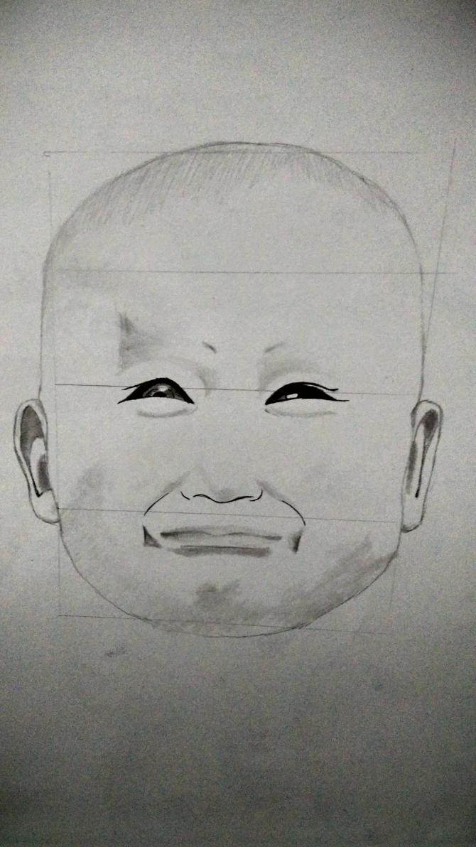 Face Drawing 2 by JinxedEye