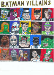 Batman Villains by Vultureclaw