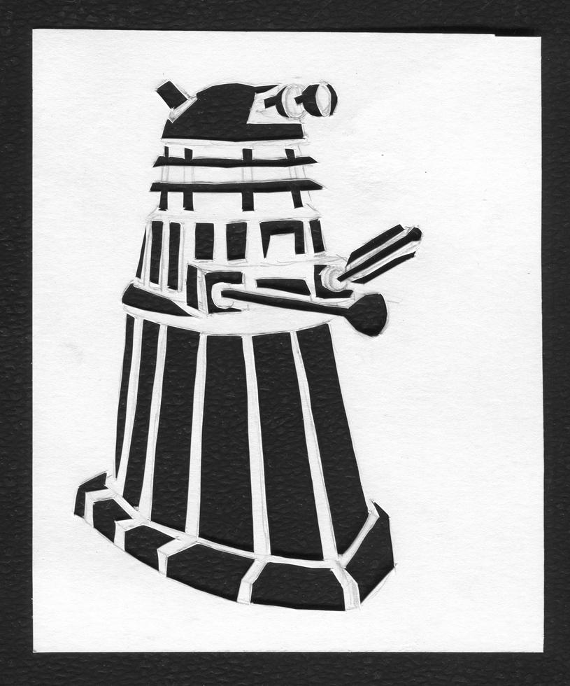 Dalek cut-out by BlueBoxDrifter