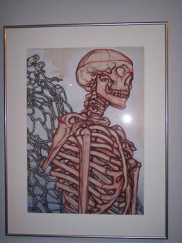 Skeliton Study With Conte'
