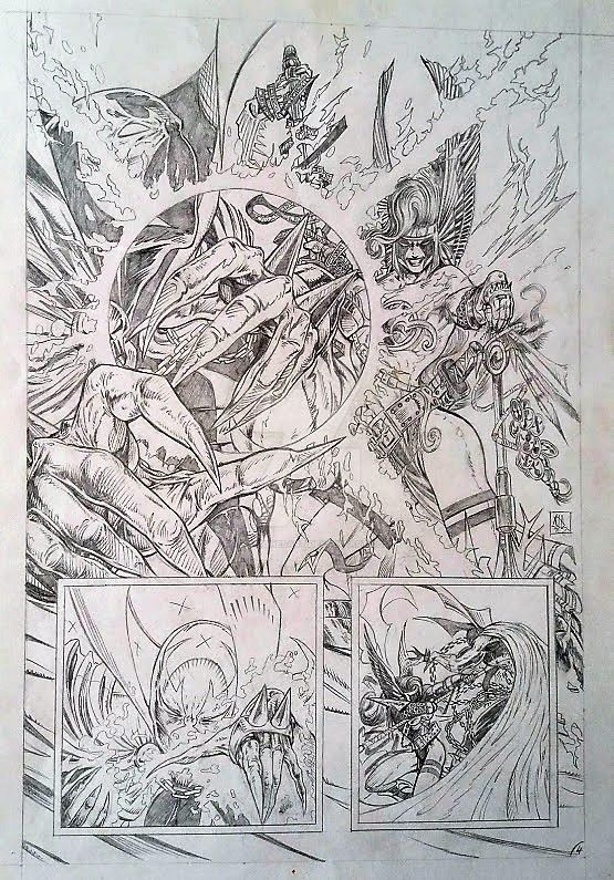 Old Spawn Tryout Pencil 4 (of 4) by AdeHughesArt