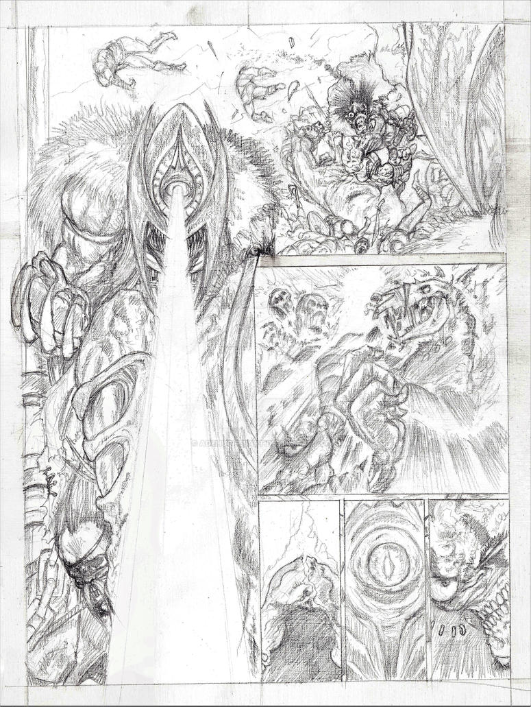 Balor of The Evil Eye Slaine Tryout Page 4 Pencils by AdeHughesArt