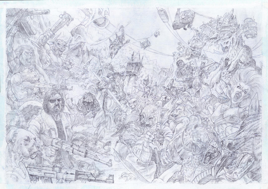 Uprising - Finished Pencils by AdeHughesArt
