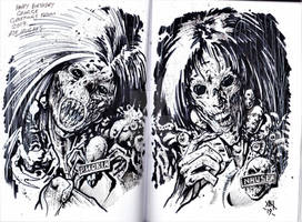 Sisters of Death Invitation Sketch