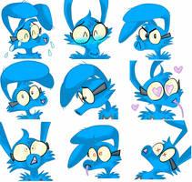 Blue Telegram Stickers by wimpod