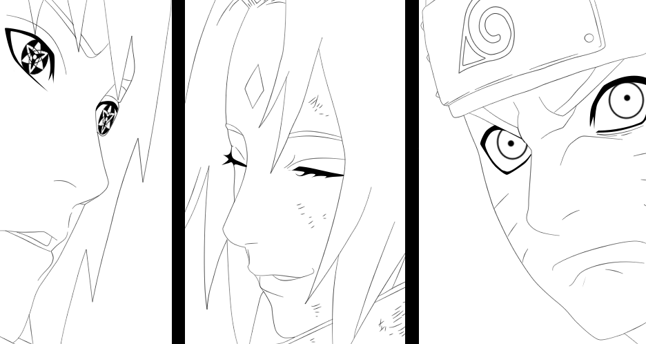 Naruto 635 - Team 7 Lineart by DanKun94 on DeviantArt