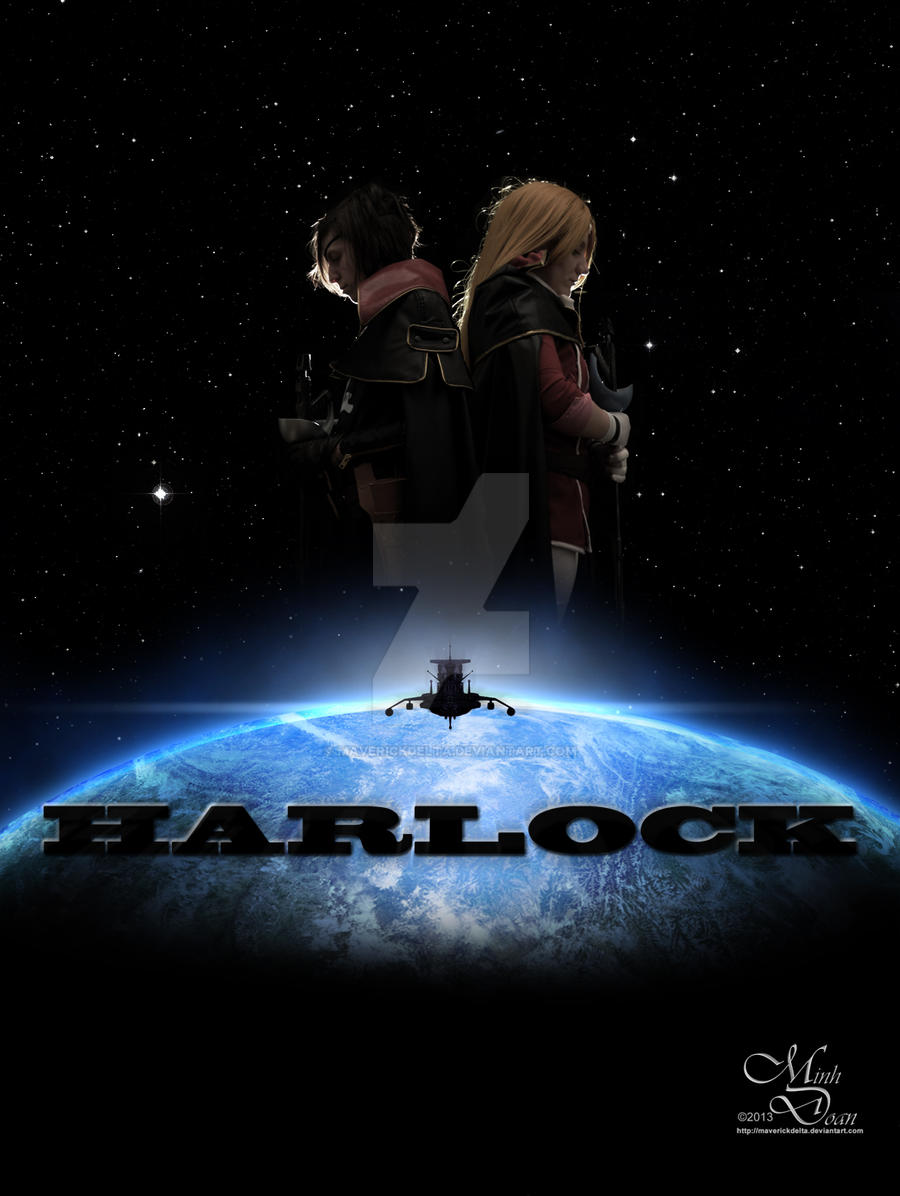 Concept Fan-made Cosplay Movie poster - Harlock by maverickdelta