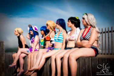 Beach Cosplay - The Odd Gang by maverickdelta