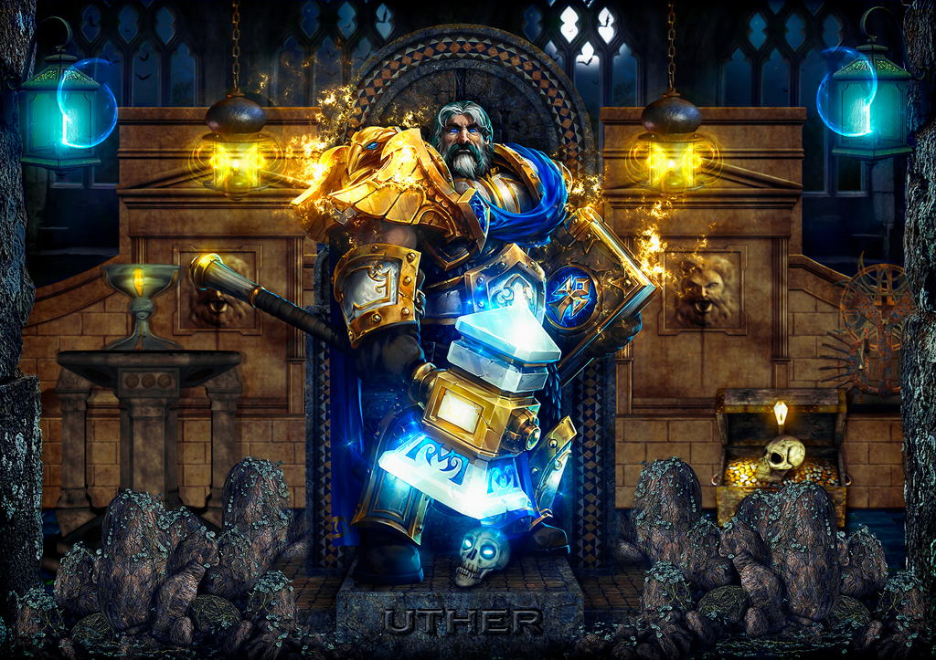 Paladin uther world of warcraft by sergiomol on deviantart for Wow portent 5 4