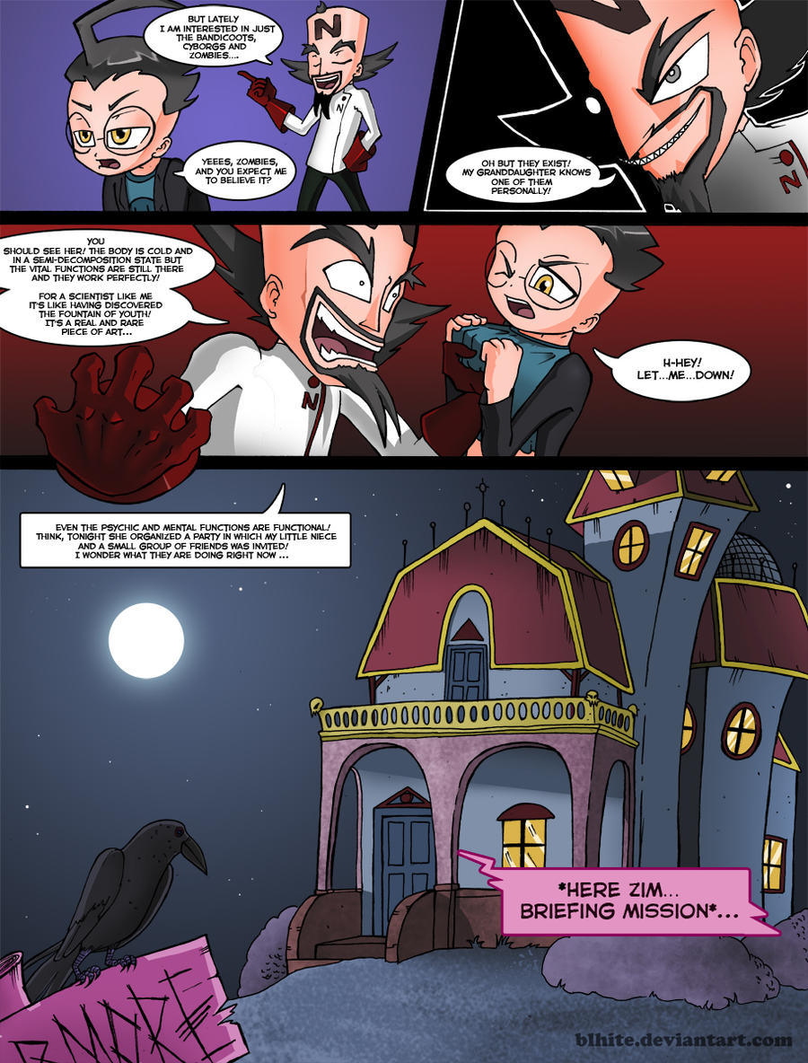 invader zim conqueror of nightmare page 12 by blhite on