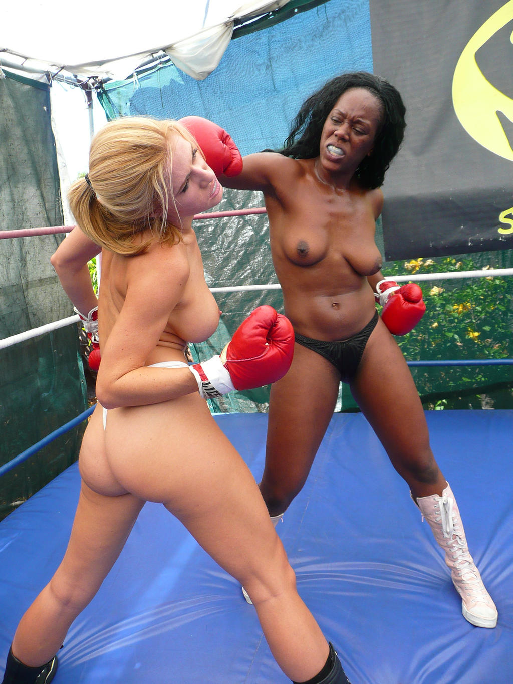 nude gay vs women boxing