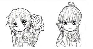 Chibi Kanda and Allen by Jidai-SK