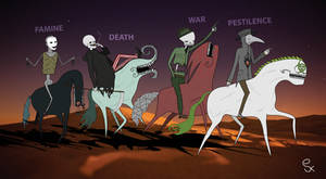 The Four Horsemen of The Apocalypse by jukenos