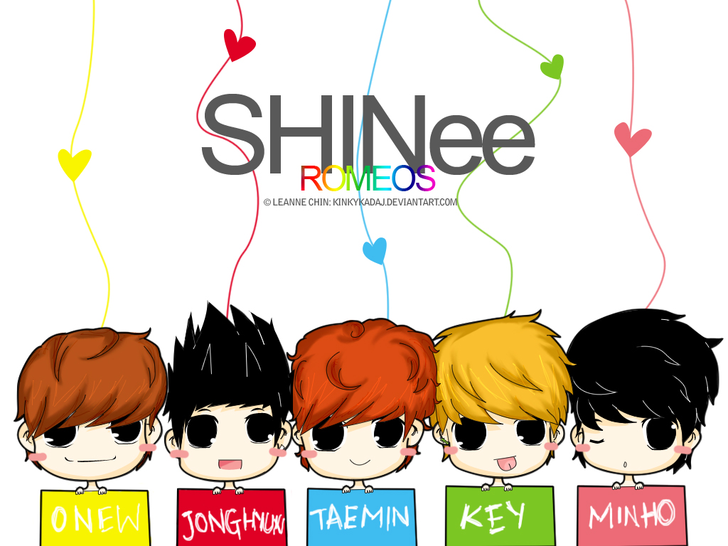 Hình manga của các nhóm nhạc Hàn Chibi_SHINee_Romeos_by_KinkyKadaj