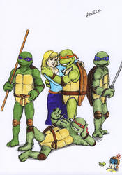 TMNT and Anne - coloured