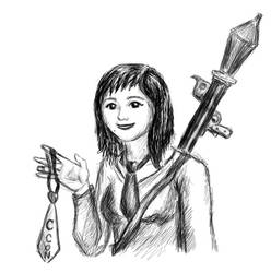Cravatacon Mascot Girl by Sheelena