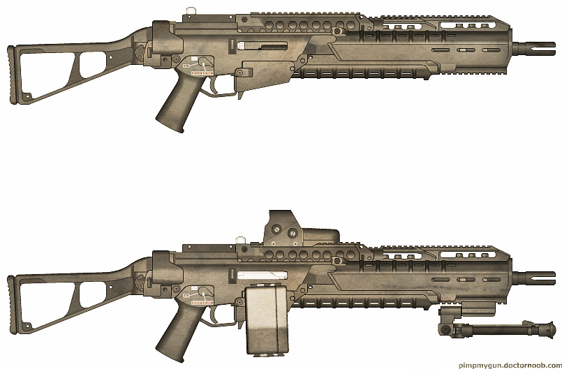 Weapons: LHCG-32 LMG by purpledragon104