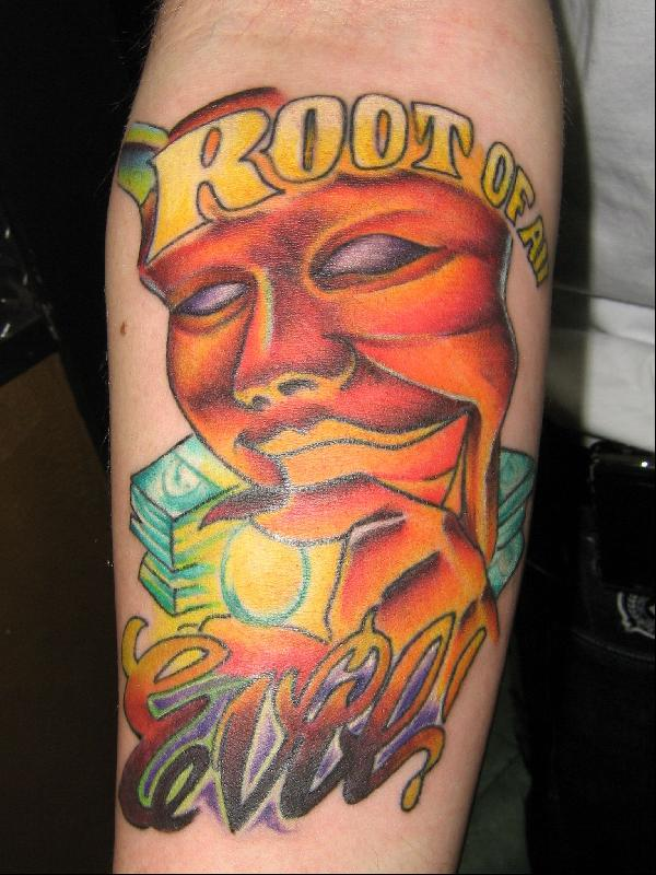 Love Of Money Is The Root Of All Evil Tattoo 94955 Loadtve