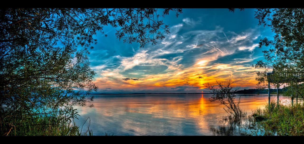 HDR Chiemsee Sunrise Panorama by Squadz2000