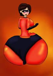 Elastigirl's Inflated Butt by ButLova