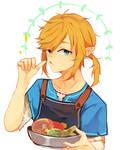 He cooks