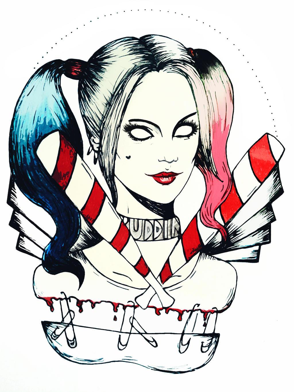 Harley Quinn Drawing: Harley Quinn By SilviaFlower On DeviantArt
