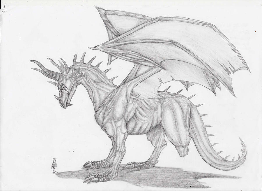 Three Leg Dragon by MidoriBara