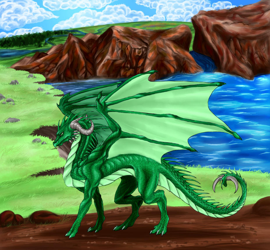 Green Dragon by MidoriBara