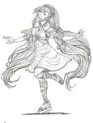 Riri (redrawn) by MidoriBara